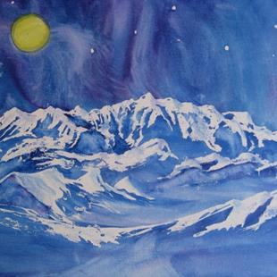 Art: Mount Logan (sold) by Artist Kathy Crawshay