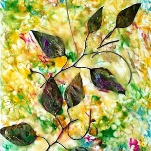 Art: Eucalyptus Leaves Collage by Artist Ulrike 'Ricky' Martin