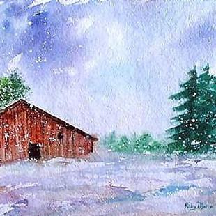 Art: Early Snow  (sold) by Artist Ulrike 'Ricky' Martin