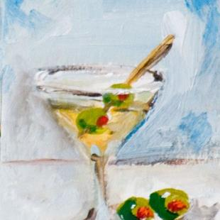 Art: Martini and Olives ACEO by Artist Delilah Smith