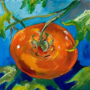 Art: Tomato on a Vine by Artist Delilah Smith