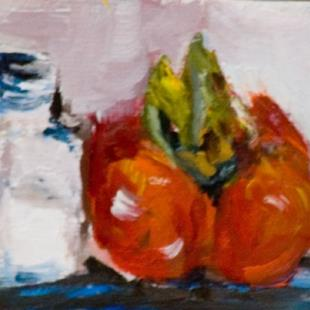 Art: Tomato and Salt Aceo by Artist Delilah Smith