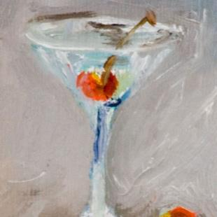 Art: Cherry in my Martini-sold by Artist Delilah Smith