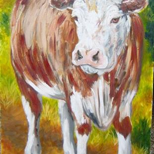 Art: Cow by Artist Tracey Allyn Greene
