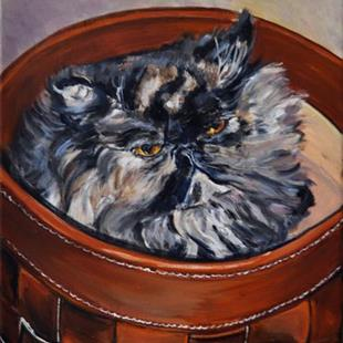 Art: Ruby in a Basket by Artist Heather Sims