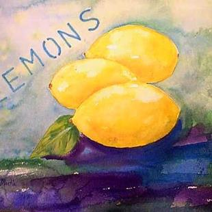 Art: 3 Lemons  ( sold) by Artist Ulrike 'Ricky' Martin