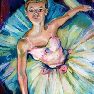 Art: The Ballet Dancer by Artist Luda Angel