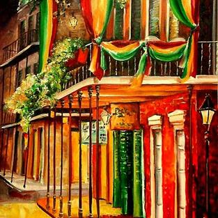 Art: A Balcony in the French Quarter - SOLD by Artist Diane Millsap