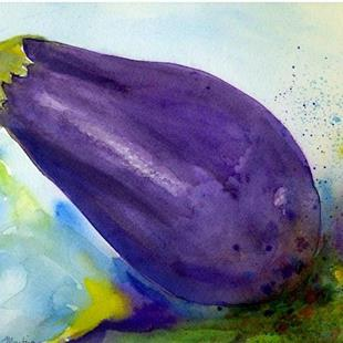 Art: Eggplant  (sold) by Artist Ulrike 'Ricky' Martin
