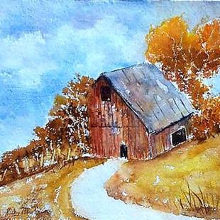 Art: The old Barn II  (sold) by Artist Ulrike 'Ricky' Martin