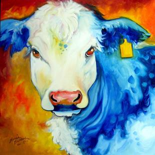 Art: BLUE BULL by Artist Marcia Baldwin