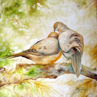 Art: MORNING DOVES by Artist Marcia Baldwin