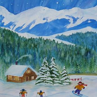 Art: Winter Bay (sold) by Artist Kathy Crawshay