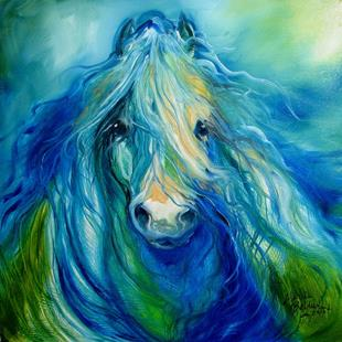 Art: BLUE HAZE FREISIAN by Artist Marcia Baldwin