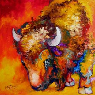 Art: BUFFALO WILDWEST by Artist Marcia Baldwin