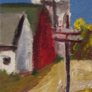 Art: Farm Landscape Aceo by Artist Delilah Smith