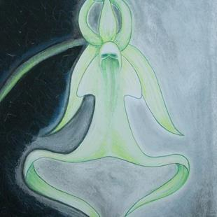 Art: Florida Ghost Orchid In The Mist by Artist Sherry Key