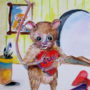 Art: Valentine Mouse by Artist Delilah Smith