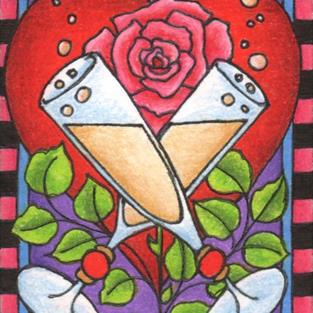 Art: A Toast to Romance by Artist Shelly Bedsaul