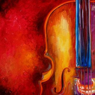 Art: CELLO ABSTRACT 2420 by Artist Marcia Baldwin