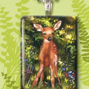 Art: Spring Fawn by Artist Patricia  Lee Christensen