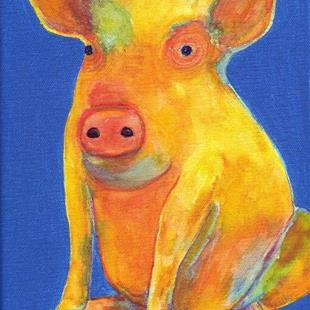 Art: Pop Piggledy Pig - sold by Artist Ulrike 'Ricky' Martin