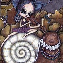 Art: New Orleans Lament - ACEO by Artist Misty Monster (Benson)