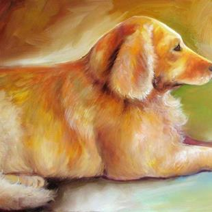 Art: GOLDEN RETRIEVER SUNLIT by Artist Marcia Baldwin