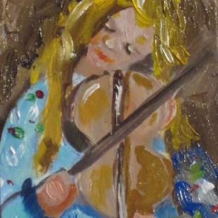Art: Violin Aceo by Artist Delilah Smith