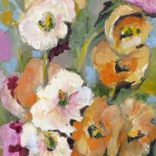 Art: Hollyhocks No2-sold by Artist Delilah Smith