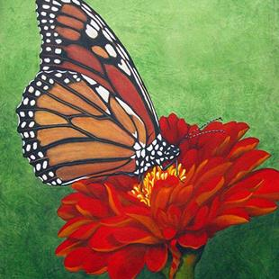 Art: Monarch Butterfly by Artist Rita C. Ford