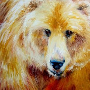 Art: GRIZZLY ENCOUNTER by Artist Marcia Baldwin