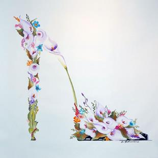 Art: Cala Lillies Bouquet stiletto by Artist Elena Feliciano