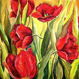 Art: Spring Tulips - SOLD by Artist Diane Millsap