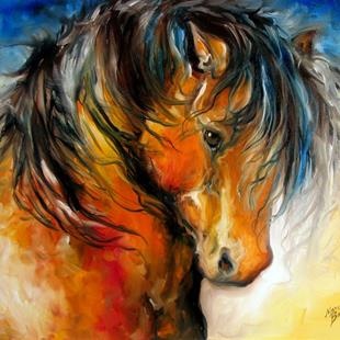 Art: REGAL SPANISH HORSE by Artist Marcia Baldwin