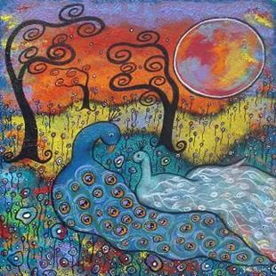 Art: Enchanted Peacocks by Artist Juli Cady Ryan
