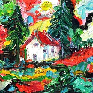 Art: The Old Homestead - sold by Artist Ulrike 'Ricky' Martin