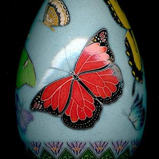Art: Butterfly Turkey Pysanka Monarch a.jpg by Artist So Jeo LeBlond