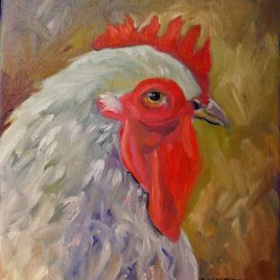 Art: A Handsome Rooster by Artist Catherine Darling Hostetter