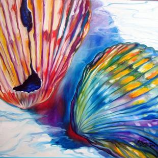 Art: SEASHELL ABSTRACT II by Artist Marcia Baldwin