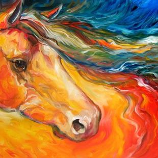 Art: CRIMSON WIND EQUINE by Artist Marcia Baldwin