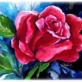 Art: Nancy's Rose by Artist Kathy Morton Stanion