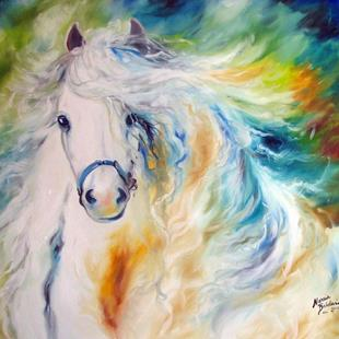 Art: WHITE CLOUD COMMISSIONED by Artist Marcia Baldwin