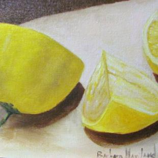 Art: Lemons by Artist Barbara Haviland
