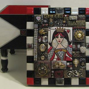 Art: Queen of Hearts Box by Artist Melinda Dalke