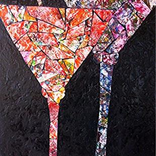 Art: Double Martini by Artist Ulrike 'Ricky' Martin