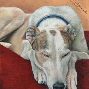 Art: Custom Dog Portrait : Effee by Artist Leanne Wildermuth
