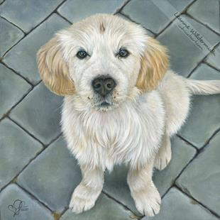 Art: Custom Dog Portrait : Max by Artist Leanne Wildermuth