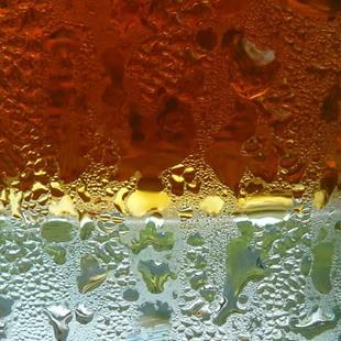 Art: iced tea abstract by Artist S. Olga Linville