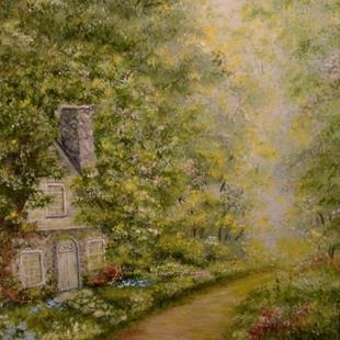 Art: Old Stone Cottage by Artist Leea Baltes